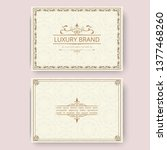 invitation  business card or... | Shutterstock .eps vector #1377468260