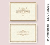 invitation  business card or... | Shutterstock .eps vector #1377468293