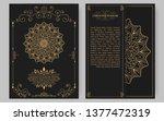 luxury vintage golden vector... | Shutterstock .eps vector #1377472319