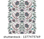 seamless decorative border with ... | Shutterstock . vector #1377475769