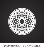 yoga related icon on background ...   Shutterstock .eps vector #1377482366