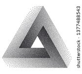 infinity or impossible triangle.... | Shutterstock .eps vector #1377488543