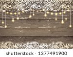 beautiful lace with decorative...   Shutterstock .eps vector #1377491900