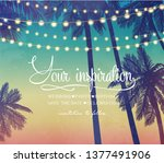 hanging decorative holiday... | Shutterstock .eps vector #1377491906