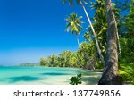 idyllic island relaxation in... | Shutterstock . vector #137749856