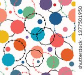 abstract organic cut out dot... | Shutterstock .eps vector #1377501950