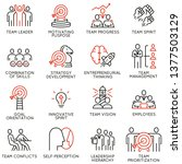 vector set of linear icons... | Shutterstock .eps vector #1377503129