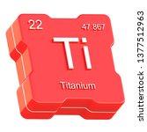 titanium element symbol from... | Shutterstock . vector #1377512963