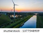 Wind Turbines Generating Green...