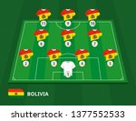 football field with bolivia... | Shutterstock .eps vector #1377552533