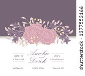 floral wedding invitation... | Shutterstock .eps vector #1377553166