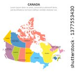canada multicolored map with... | Shutterstock .eps vector #1377553430