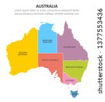 australia multicolored map with ... | Shutterstock .eps vector #1377553436