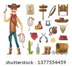 wild west cartoon. saloon...   Shutterstock .eps vector #1377554459