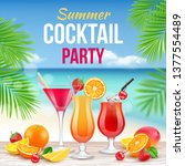 cocktail party poster.... | Shutterstock .eps vector #1377554489