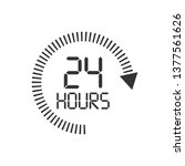 24 hours clock sign icon in... | Shutterstock .eps vector #1377561626