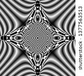 seamless pattern with hypnotic... | Shutterstock .eps vector #1377563513