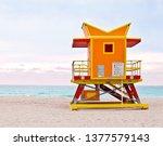 Orange Lifeguard Tower  Art...