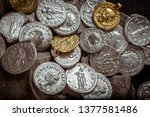 ancient coin of the roman...   Shutterstock . vector #1377581486