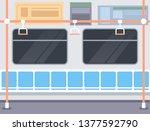 railway carriage. railway metro ...   Shutterstock .eps vector #1377592790