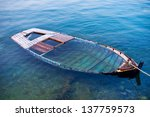 Wreck Of A Wooden Boat...