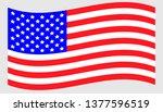 vector waving american flag icon | Shutterstock .eps vector #1377596519
