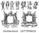 heraldry in vintage style.... | Shutterstock .eps vector #1377596810