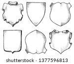 frame for national emblem.... | Shutterstock .eps vector #1377596813
