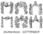 ornament with calligraphic... | Shutterstock .eps vector #1377596819