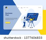 landing page business plan... | Shutterstock .eps vector #1377606833