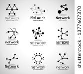 network technology logo set.... | Shutterstock .eps vector #1377607370