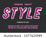 vector of modern bold font and... | Shutterstock .eps vector #1377624989
