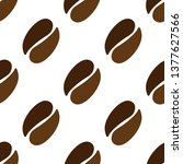 vector coffee beans icon seeds... | Shutterstock .eps vector #1377627566