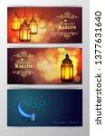 ramadan kareem greeting islamic ...   Shutterstock .eps vector #1377631640