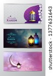 ramadan kareem greeting islamic ...   Shutterstock .eps vector #1377631643