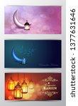 ramadan kareem greeting islamic ...   Shutterstock .eps vector #1377631646