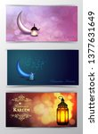 ramadan kareem greeting islamic ...   Shutterstock .eps vector #1377631649