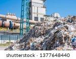 shredded municipal waste used... | Shutterstock . vector #1377648440