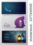 ramadan kareem greeting islamic ...   Shutterstock .eps vector #1377650540