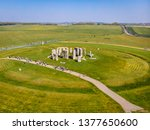 Aerial View Of Stonehenge In...