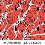 abstract trendy pattern with... | Shutterstock . vector #1377656606