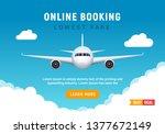 flight travel trip banner for...   Shutterstock .eps vector #1377672149