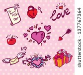 love hearts set | Shutterstock .eps vector #137767364