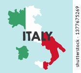 Vector Icon Map Of Italy. Map...
