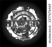 hazard on grey camouflaged... | Shutterstock .eps vector #1377676469