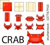 illustrator of crab origami   Shutterstock .eps vector #137767910
