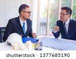 businessman and team work of ...   Shutterstock . vector #1377685190