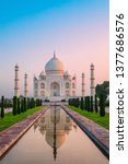 Taj Mahal Is A White Marble...