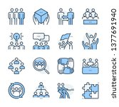 team management theme icon set. ... | Shutterstock .eps vector #1377691940