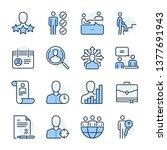recruitment theme icon set. the ... | Shutterstock .eps vector #1377691943